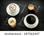 different kinds of coffee on...