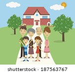 three generation family  vector ... | Shutterstock .eps vector #187563767