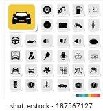 automotive icon set | Shutterstock .eps vector #187567127