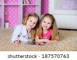 little girls playing on a... | Shutterstock . vector #187570763