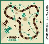vector board game   road runner    Shutterstock .eps vector #187571387