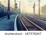 Railroad Crossing And The Trai...