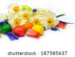 Easter Eggs  Tulips  Muscari...