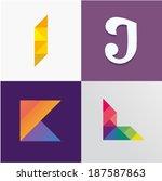 i j k l letters | Shutterstock .eps vector #187587863