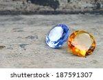 topaz and sapphire  | Shutterstock . vector #187591307
