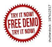 free demo grunge rubber stamp... | Shutterstock .eps vector #187612517