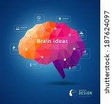 brain idea geometric info... | Shutterstock .eps vector #187624097