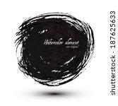 brush stroke circle texture.... | Shutterstock .eps vector #187625633