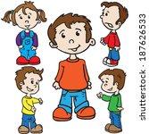 smiling kids cartoon... | Shutterstock . vector #187626533