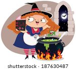 wicked witch  | Shutterstock .eps vector #187630487