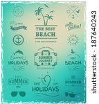 summer label for print for t... | Shutterstock .eps vector #187640243