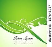 floral green ecology background    Shutterstock .eps vector #187648787