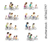 family riding a bicycle  ... | Shutterstock .eps vector #187662797