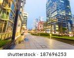night scene of modern city | Shutterstock . vector #187696253