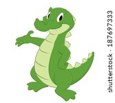 cartoon crocodile. isolated... | Shutterstock .eps vector #187697333
