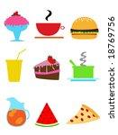 comic food illustrations | Shutterstock . vector #18769756