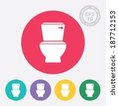 toilet and restroom circle icon ... | Shutterstock .eps vector #187712153
