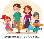family shopping | Shutterstock .eps vector #187715453