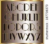 gold black letters   Shutterstock .eps vector #187738373