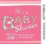 baby shower | Shutterstock .eps vector #187748813