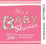 baby shower | Shutterstock .eps vector #187748813
