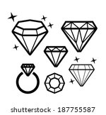 Vector Black Diamond Icons On...