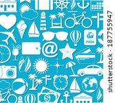 travel icons | Shutterstock .eps vector #187755947