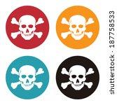 colorful circle danger or skull ... | Shutterstock . vector #187758533