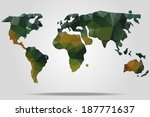 vector triangle world map | Shutterstock .eps vector #187771637