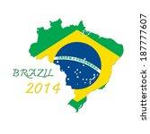 brazil map flag | Shutterstock . vector #187777607