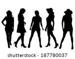 vector silhouette of a sexy... | Shutterstock .eps vector #187780037