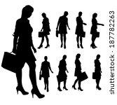 vector silhouette of... | Shutterstock .eps vector #187782263
