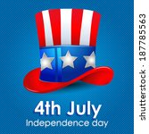 hat of uncle sam  independence... | Shutterstock .eps vector #187785563