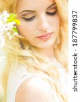spring portrait of a beautiful...   Shutterstock . vector #187799837