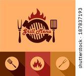 illustration grill menu of in... | Shutterstock .eps vector #187837193