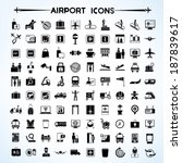 airport icon set  airport... | Shutterstock .eps vector #187839617