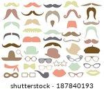 retro mustache   hipster | Shutterstock .eps vector #187840193
