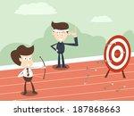 business man coaching concept  | Shutterstock .eps vector #187868663