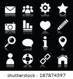 web vector  icons in white... | Shutterstock .eps vector #187874597