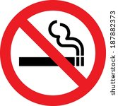 no smoking allowed sign | Shutterstock . vector #187882373
