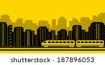yellow background passenger... | Shutterstock .eps vector #187896053
