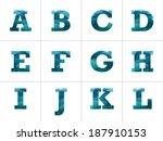 colorful blue letter alphabet... | Shutterstock .eps vector #187910153