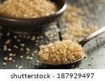 raw organic cane sugar in a bowl | Shutterstock . vector #187929497