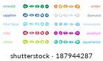 big set of variety gemstone. no ... | Shutterstock . vector #187944287