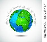 global communication around... | Shutterstock .eps vector #187951457