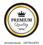 golden premium quality badge   Shutterstock .eps vector #187961693