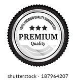silver premium quality badge   Shutterstock .eps vector #187964207