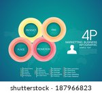 business  marketing online 4p | Shutterstock .eps vector #187966823