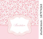 vector wedding card or... | Shutterstock .eps vector #187974263