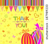 thank you card. vector... | Shutterstock .eps vector #187989233